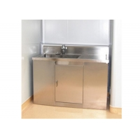 Wholesale Durable Hospital Wash Tank , Single Bowl Free Standing Washbasin Cabinet from china suppliers