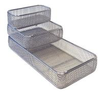 Medical Surgical Rigid Sterilization Containers , Stainless Steel Wire Mesh Trays for sale