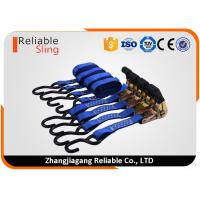 Best Multi Color Certified 4 Set of Polyester Tension Belt with Ratchet and S Hooks wholesale
