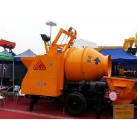 Wholesale Mobile Diesel Portable Hydraulic Trailer Mounted Concrete Mixing Pump With Mixer from china suppliers