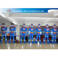Wholesale Advertising Oxford Cloth Blue Inflatable Superman With Blower 3m High from china suppliers