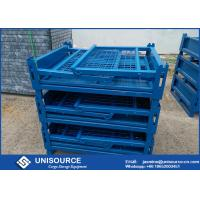Wholesale Galvanized Turnover Steel Mesh Box , Large Metal Storage Boxes For Material Handling from china suppliers