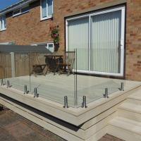 Buy cheap safety and durable high quality balcony railing design glass supplier from wholesalers