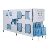 China 200BPH 5gallon Bottled Water Bottling Line Interior And Exterior Washing Available for sale