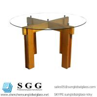 Wholesale dining table to used High quality clear round glass top from china suppliers