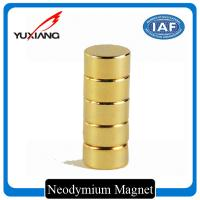 N48 Cylinder Neodymium Custom Made Magnets High Coercive Force Featuring for sale