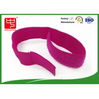 China Red color Strong elasticated hook and loop straps with sew , 320 * 50mm hook and loop stretch straps  on sale