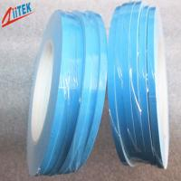 Quality 1.2 W / mK High Performance blue double sided tape Thermal Conductive Adhesive For Led Fluorescent Lamp 50 Shore A for sale