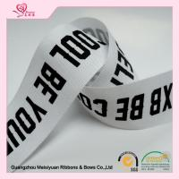 Custom printed cotton ribbon Character Silkscreen Printed , double faced satin ribbon 38mm for sale