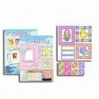 Wholesale Handicraft Card Kit with Printed Card, String, Rubber Stamp, Sponge Label and Color Ink from china suppliers