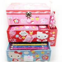 Wholesale Hello Kitty Personalized Stationery Sets Pink For Girls from china suppliers