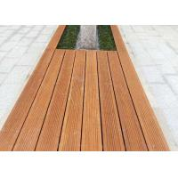 Durable Green Material Bamboo Park Bench Modern Appearance Customized Size