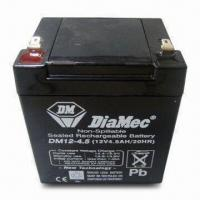 Wholesale 12V 4.5Ah Sealed Lead-acid Batteries, Suitable Fire Alarm or Security Systems from china suppliers