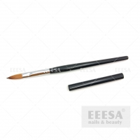 Buy cheap Custom With Lid Wooden Black Handle #10 Kolinsky Sable Acrylic Nail Brush from wholesalers