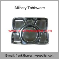 China Wholesale Cheap China Military Aluminum Stainless Steel Army Police Tableware on sale