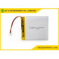 Wholesale 356168 3.7 Volt Lipo Battery , 3.7 V 1900mah Battery With Wires / Connector from china suppliers