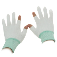 Wholesale S M L XL 10g Half Finger Palm Fit ESD Carbon Gloves from china suppliers