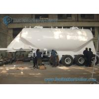 China SS 304 / AL5083 35M3 Conoid Dry Bulk Tanker Trailer with WABCO ABS Braking system on sale