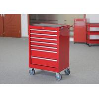China workshop garage metal tool cabinet on wheels with 7 drawers and handle for sale