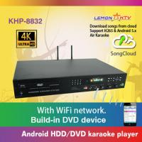 Professional Home karaoke player machine with Vietnamese English songs cloud, 4k ultra HD system,support  H.265 video