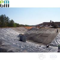 China PP Black woven geotextile price soil stabilization fabric rolls for sale