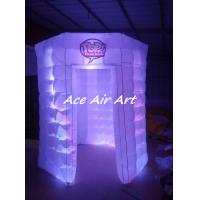Wholesale custom lighting circle booth tent white octagon inflatable photo booth for advertising from china suppliers