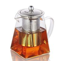 China Handmade High Borosilice Clear Glass Teapot with Stainless Steel Infuser for sale