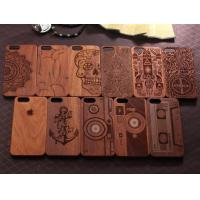 Wholesale Natural Texture Wood Cell Phone Case , Anti - Static Cool Wood Phone Cases from china suppliers