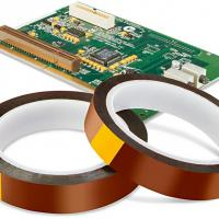 China Electrical Motor Transformer Insulation Kapton Polyimide Tape Brown / Amber Color for sale