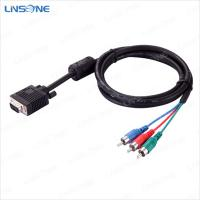 Quality Linsone High speed transmission black vga to 3rca cable for sale