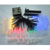 outdoor lighting 5m 20leds solar water drop led christmas lights for sale
