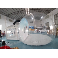Wholesale Christmas Decor Clear Inflatable Bubble Tent With Blowing Snow from china suppliers