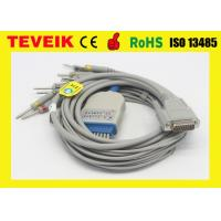 China BJ-901D Nihon kohden 10 leads EKG/ECG cable DB 15pin with DIN 3.0, snaps or clips for sale