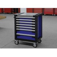 China Movable red 7 drawers toolbox tool chest on wheels for garage store tools for sale