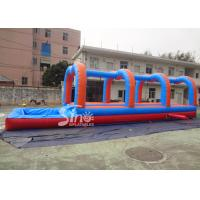 Wholesale Outdoor Kids And Adults double Inflatable Water Slip And Slide with pool 20m Long from china suppliers
