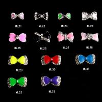 Best Charming 3D Nail Art Designs Nail Art Bow Tie Alloy Rhinestones DIY Decoration ML21-33 wholesale