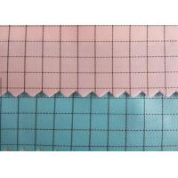 China 100% Polyester Plain Anti Static Fabric 100D 0.5cm Grid Strip For Lab Coat for sale