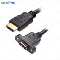 Wholesale LINSONE Black hdmi male to female hdmi cable V1.4 from china suppliers
