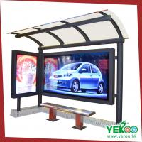 city street steel material bus stop shelter outdoor advertising display bus shelter