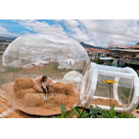 Wholesale Outdoor Hotel Transparent Inflatable Crystal Bubble House Tent With Airtight Tunnel from china suppliers