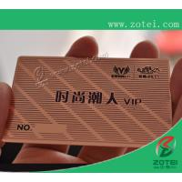 Wholesale rose-colored metal card,80*50*0.36mm from china suppliers