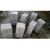 Guangxi White Marble Car Packing Stone China Carrara White Marble Packing Barriers for sale