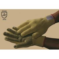 Wholesale 100 % Kevlar one-side PVC dotted glove,cut resistance,Non-slip,Puncture resistance,Gauge10 from china suppliers