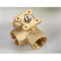China 3 Way Electric Water Valve , Brass Mini Ball Valve Excellent Water Hammer Elimination on sale