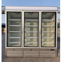 Three Glass Door Vertical Refrigerated Showcase Commercial Fridge 2040 * 740 * 2000mm for sale