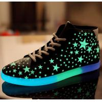 China Simulation Light Up Shoes , Fluorescent Glow Simulation Led Sneakers For Adults on sale