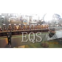Glass / SUS Beer Bottle Filling Equipment 1500BPH with Touch Screen / Inverters