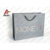 Grey Base Cosmetics Packaging Plain Paper Gift Bags , Bright Custom Goodie Bags