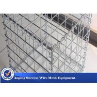 Wholesale Silver Galvanized Gabion Mesh Cage / Stone Cage Wire Mesh Easy Install from china suppliers