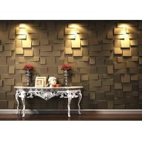 China Colored Fireproof Bamboo Fiber 3D Wood Wall Panel For Interior on sale